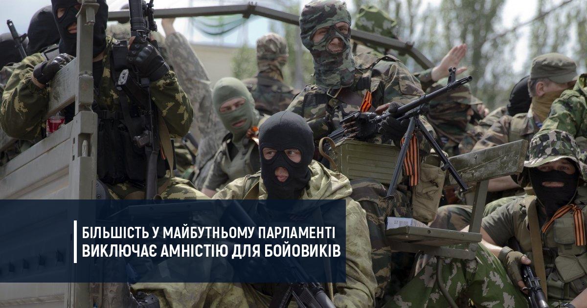 Більшість у майбутньому парламенті виключає амністію для бойовиків
