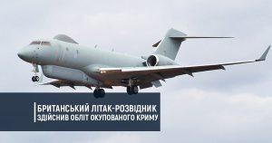 Британський літак-розвідник здійснив обліт окупованого Криму