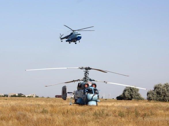 Гелікоптери Мі-14ПЛ та Ка-27ПЛ морської авіаційної бригади