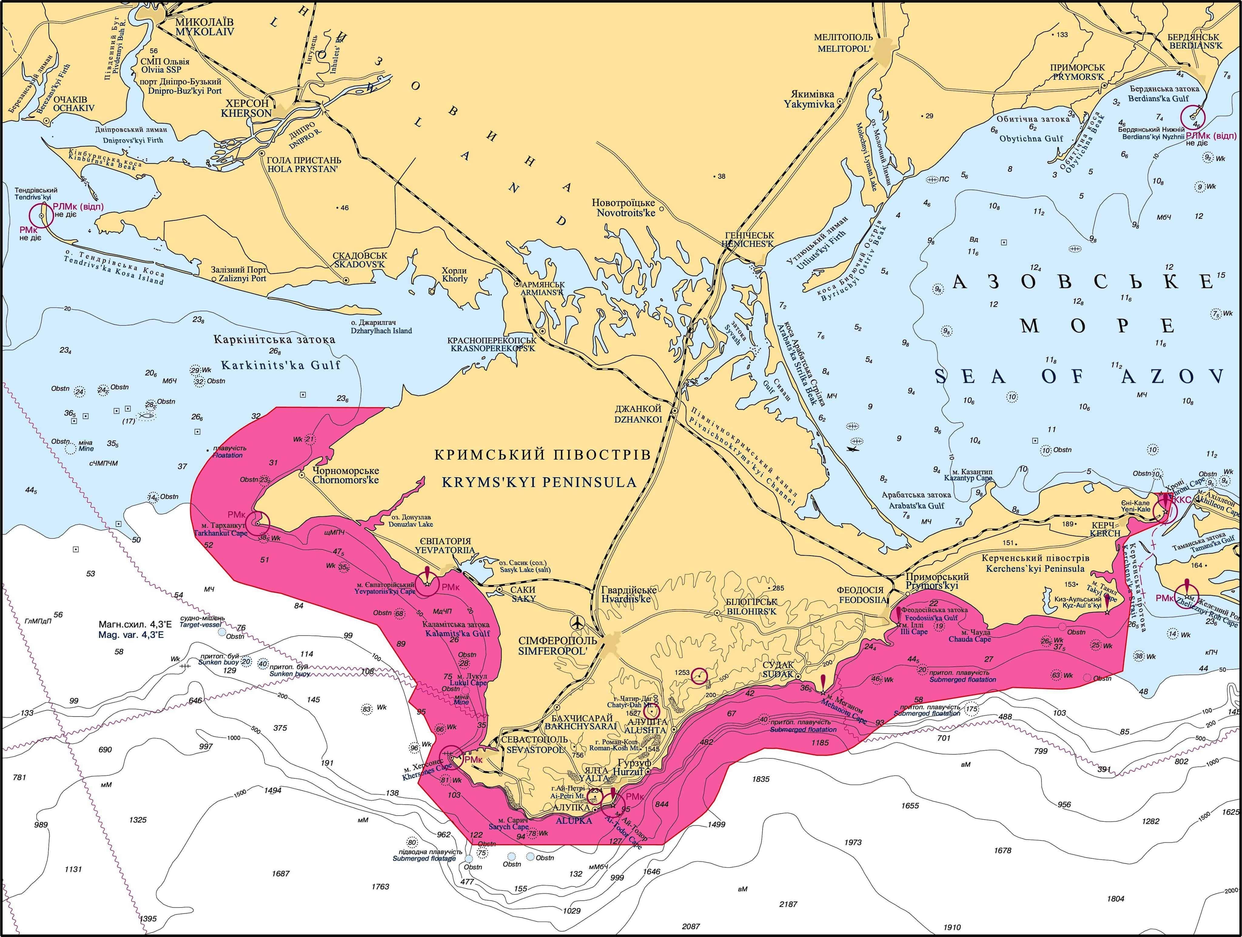 Морський режимний район навколо окупованого Криму