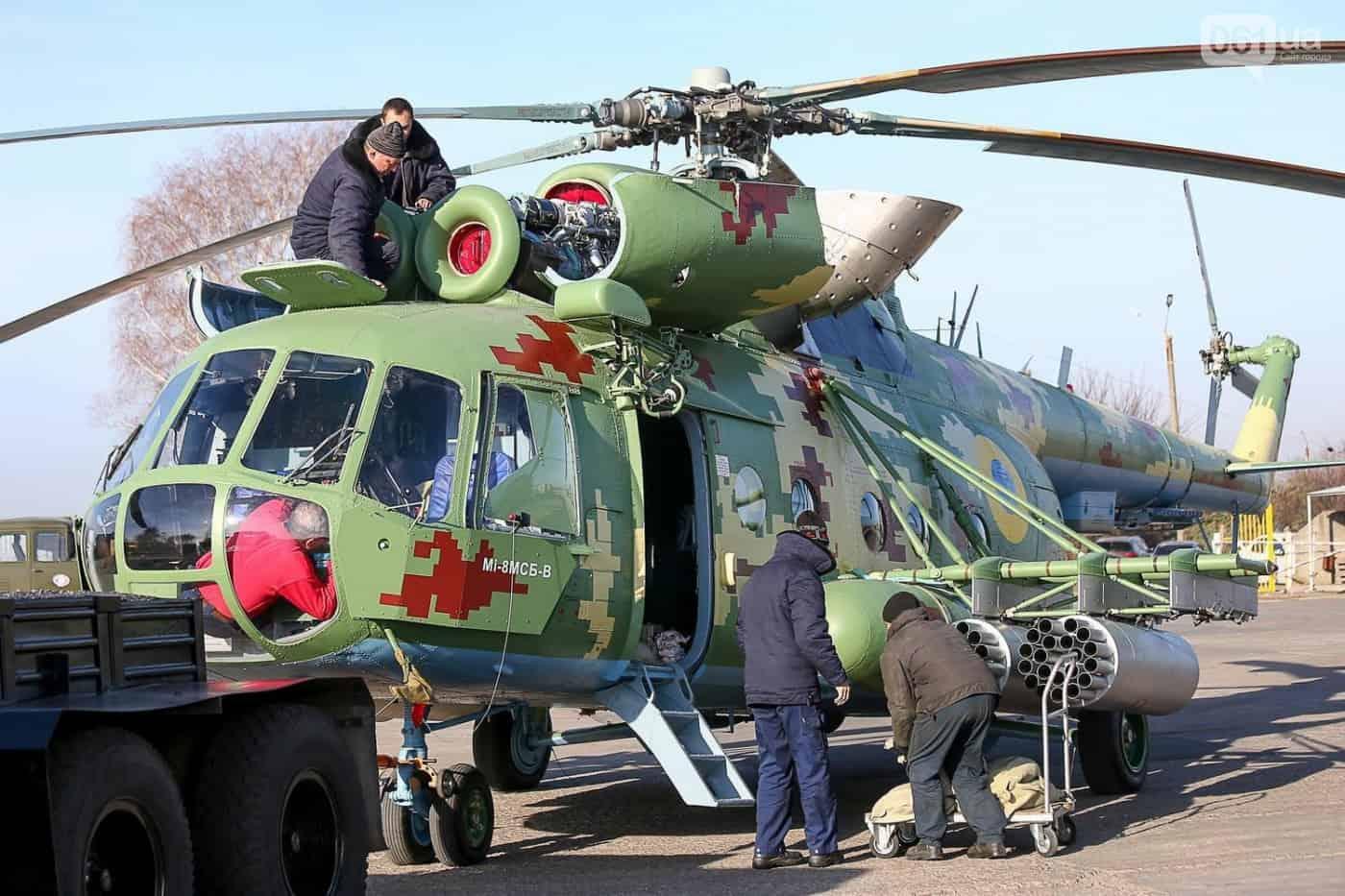 Один з модернізованих для Збройних Сил України гелікоптер Мі-8МСБ-В