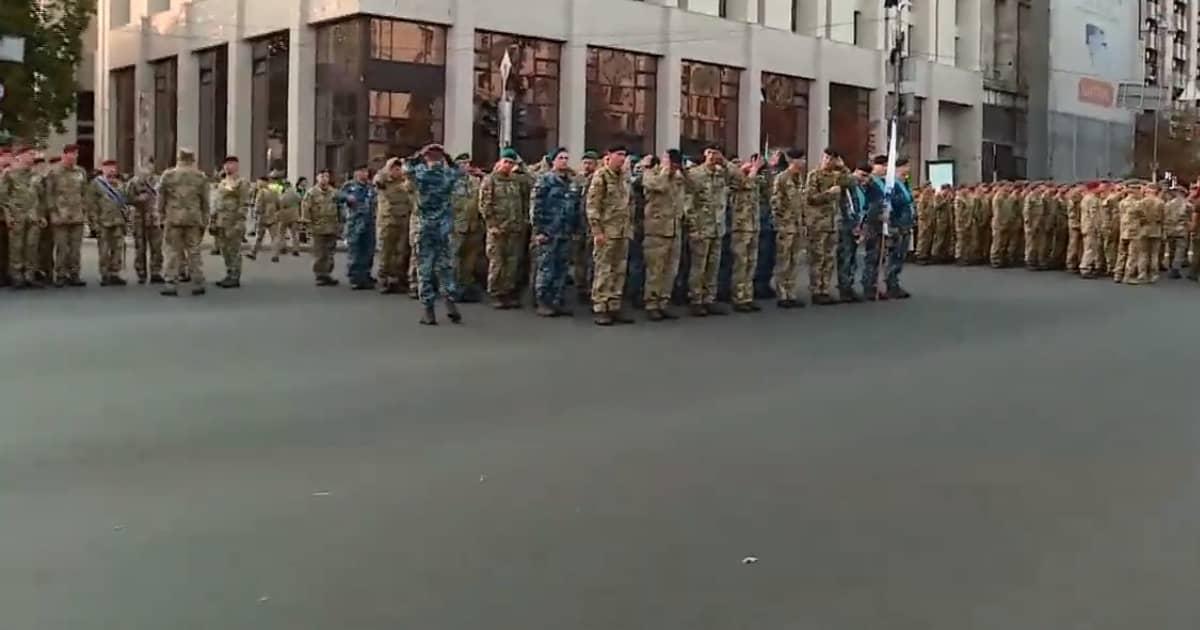 З'явилось відео репетиції цьогорічного параду