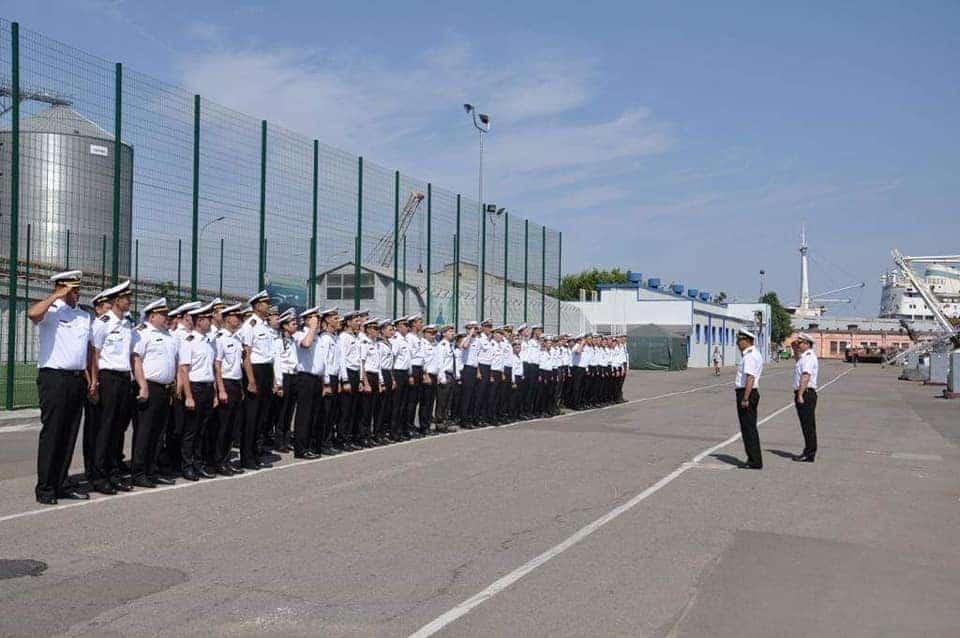 Зустріч курсантів на базі ВМС ЗС України в Одесі