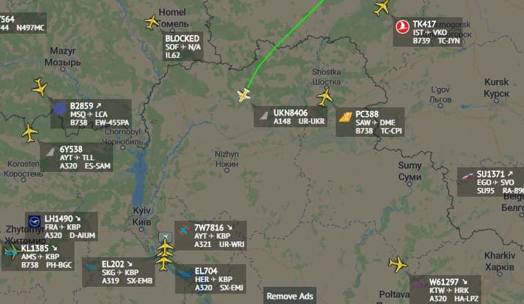 Ан-148 у повітряному просторі України