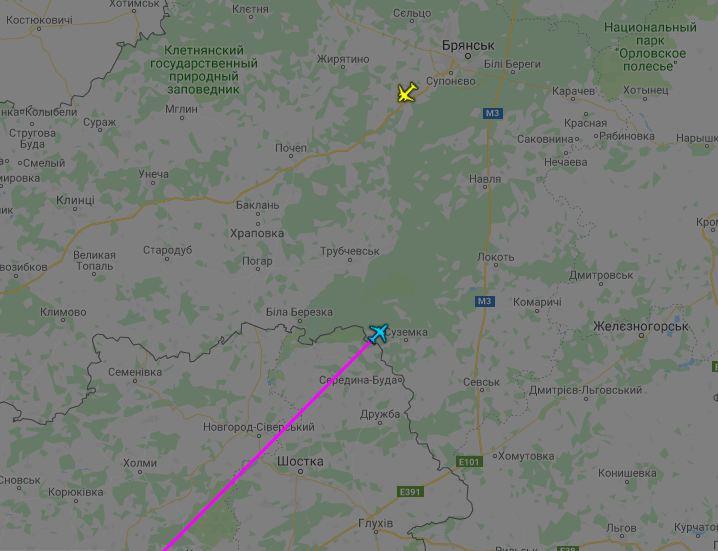 Російський Ту-204 увійшов до повітряного простору Росії