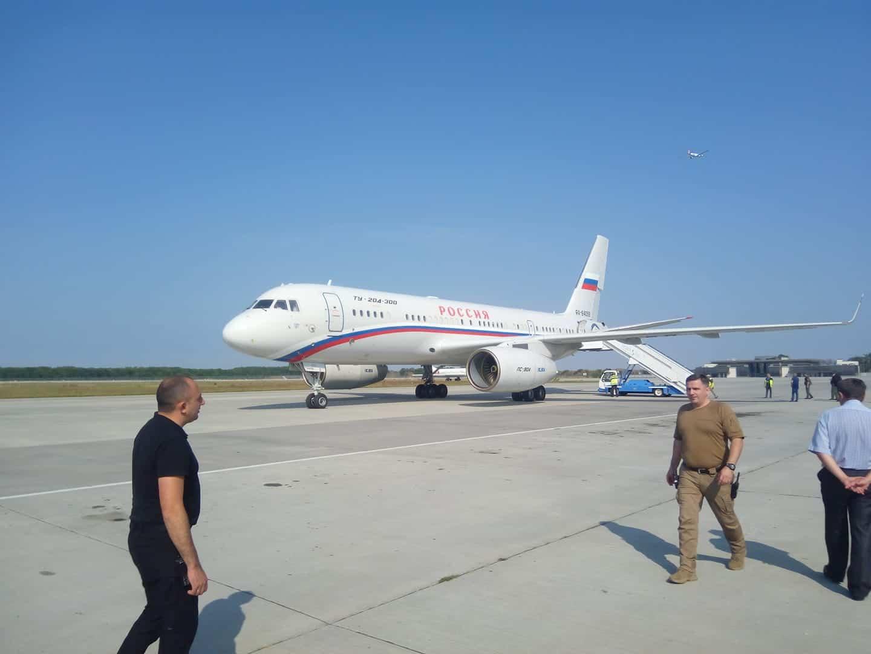 Російський спецборт перед вильотом з Борисполя