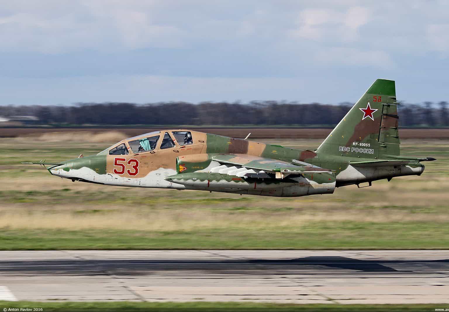 В Росії впав Су-25