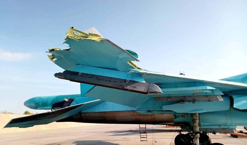 Су-34 після зіткнення у Ліпецькій області