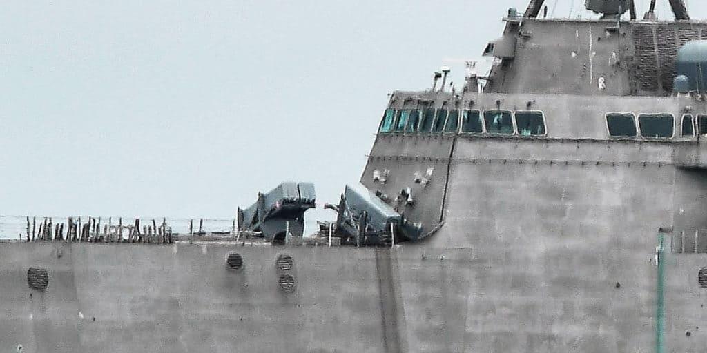 USS Gabrielle Giffords (LCS 10) з пусковими NSM