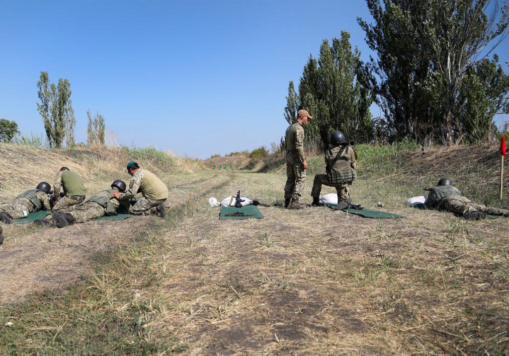 Вогнева підготовка офіцерів 109-ї бригади ТрО