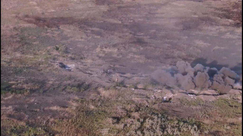 Вогневе ураження по позиціях бойовиків на Маріупольському напрямку
