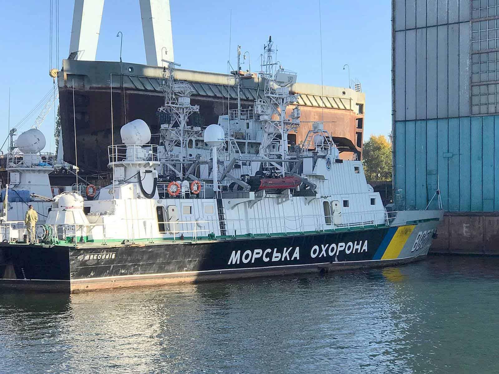 Корабель Морської Охорони «Миколаїв» (BG 57) перед початком ремонту