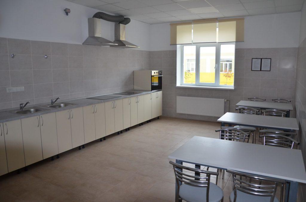 Кухня у казармі поліпшеного планування в ППД 28-ї оМБр