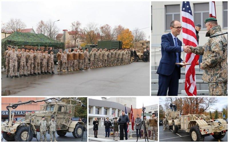 Церемонія передачі інженерної машини Husky для Латвії