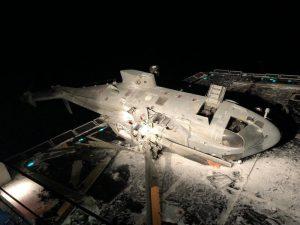 В Італії на палубу есмінця впав гелікоптер