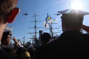 Підняття прапору ВМСУ на «Айлендах» та «Охрименко» – 13 листопада