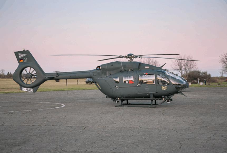 Угорський гелікоптер H145M з бортовим номером 01