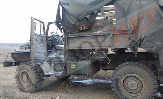 Вантажівка Урал 128-ї бригади