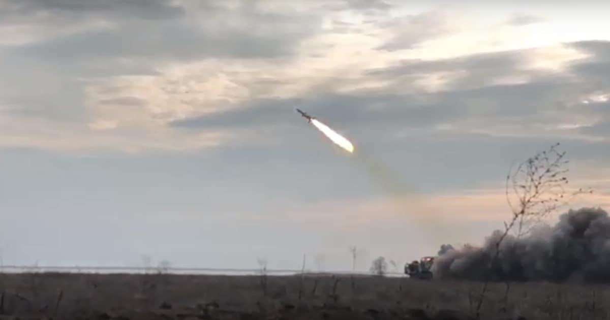 Пуск крилатої ракети Р-360 28 листопада 2019 року