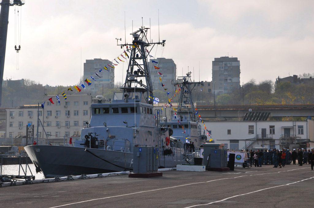 Патрульні катери «Слов'янськ та «Старобільськ» типу Island, на урочистостях