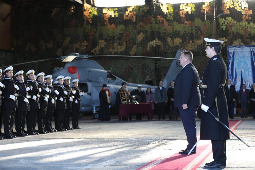 Урочиста церемонія передачі гелікоптеру AS 365N3 «Dauphin» ВМС Болгарії