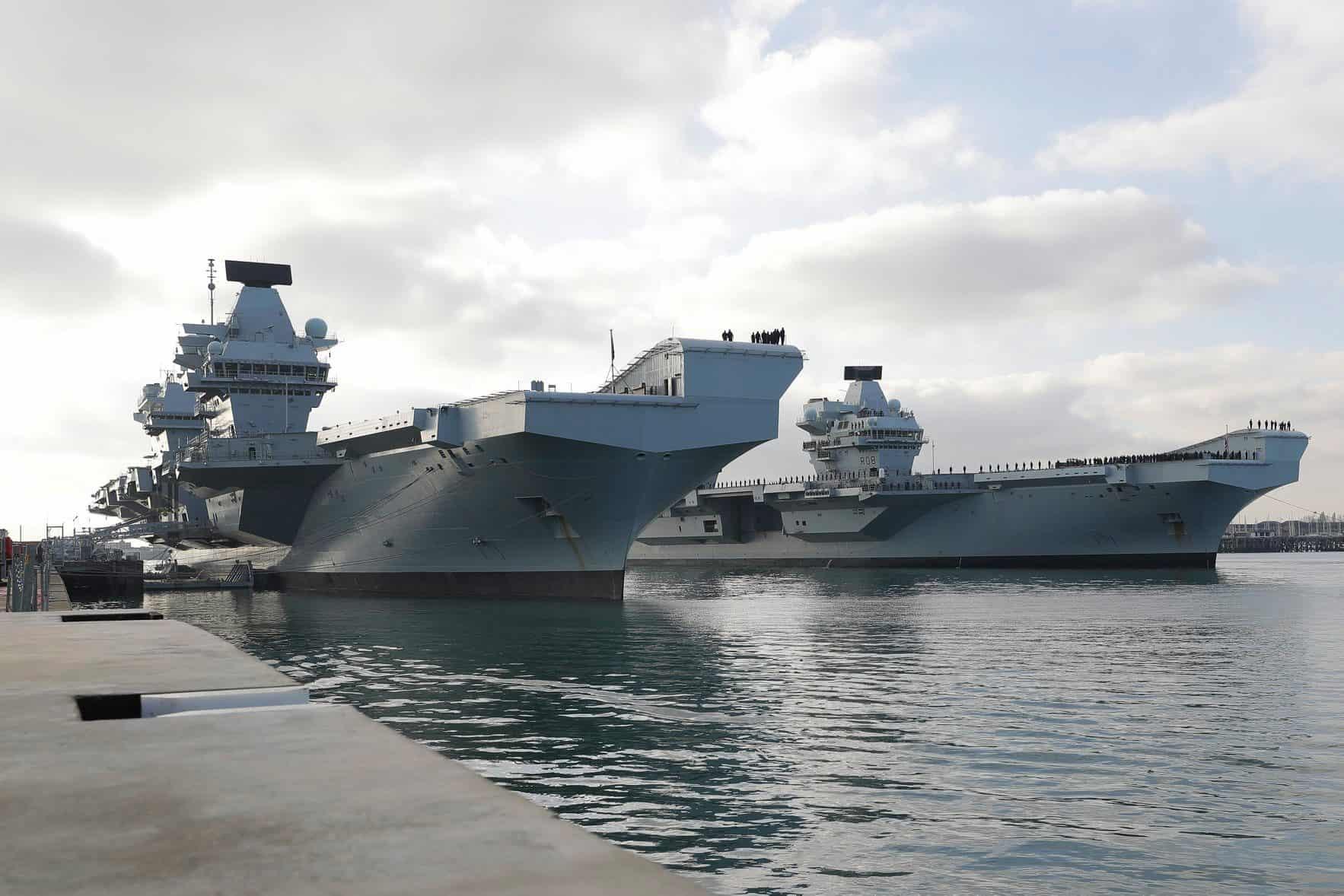 Авіаносці HMS Prince of Wales та HMS Queen Elizabeth.