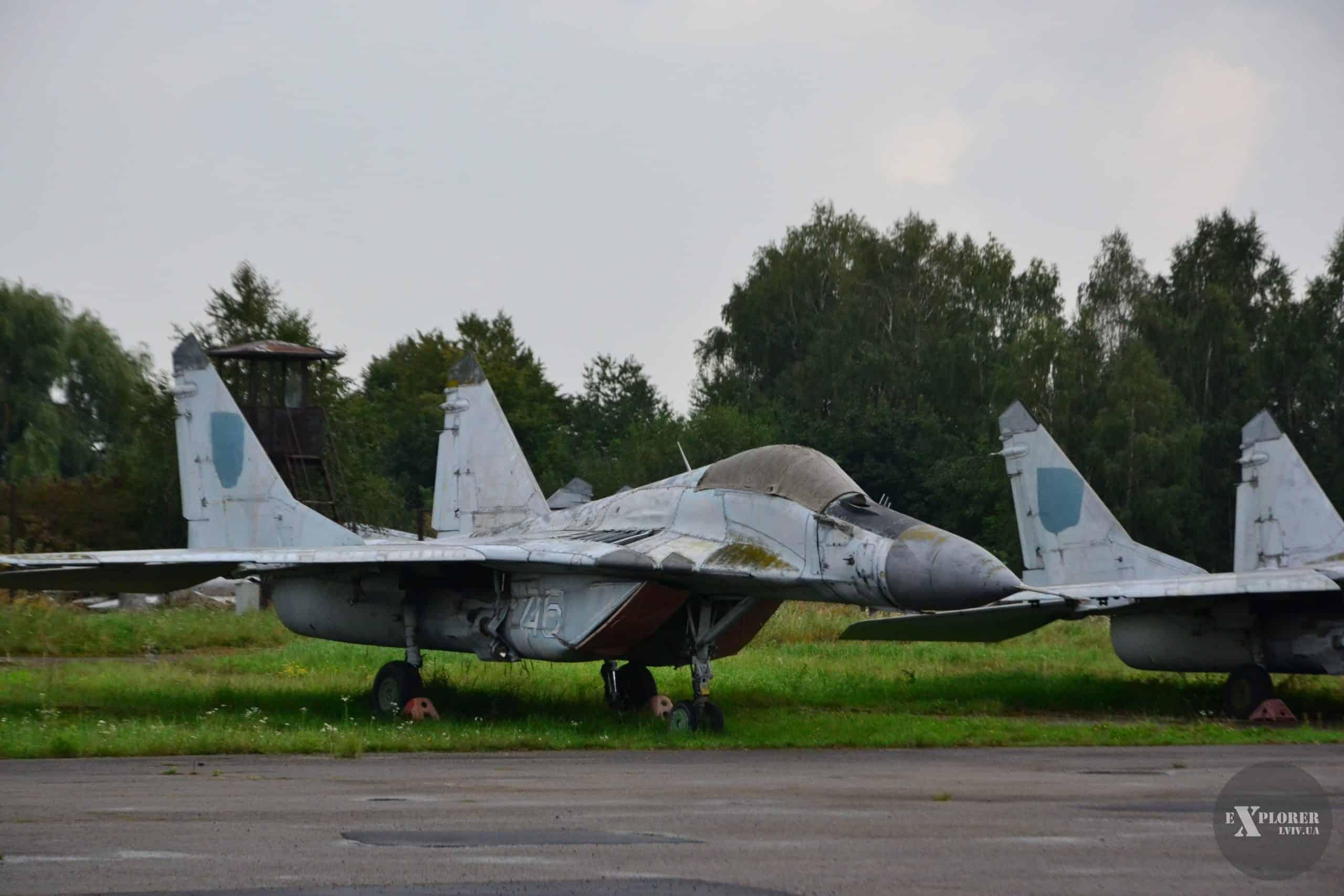 МіГ-29 з бортовим номером 46 на Львівському державному авіаційному заводі Фото: explorer.lviv.ua
