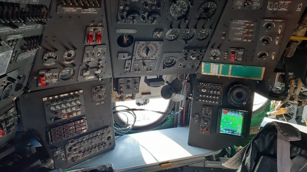 Місце оператора на модернізованому гелікоптері Мі-14 ПЧ