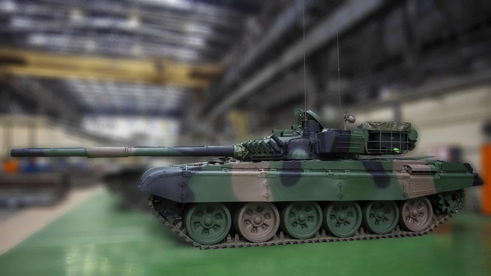 Модернізований польський танк Т-72М1