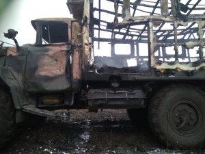 Бойовики обстріляли вантажівку 56 бригади