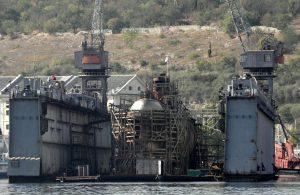 В Севастополі затонули російський плавдок та субмарина