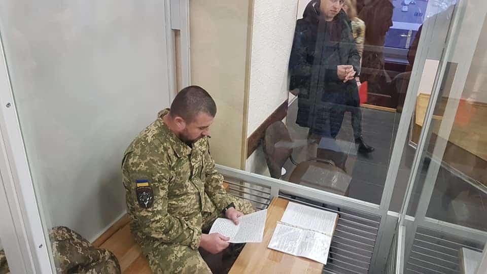 Полковник Почтаренко під час судового засідання