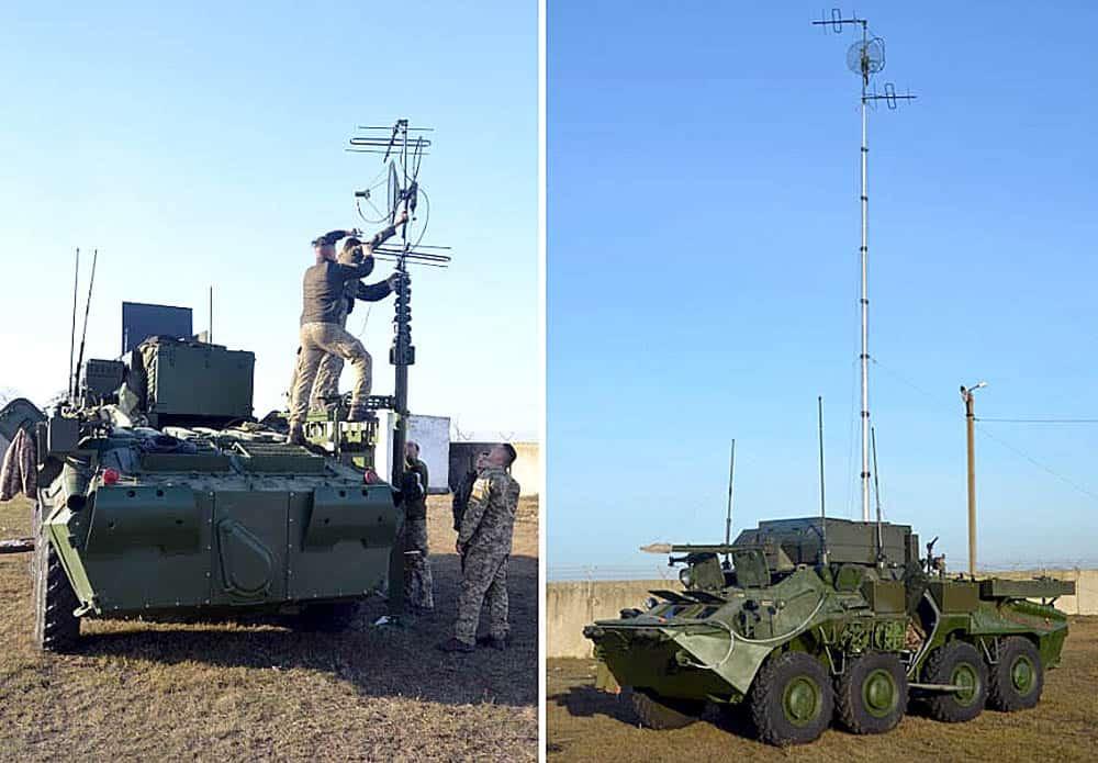 Процес розгортання командно-штабної машини на шасі БТР-70