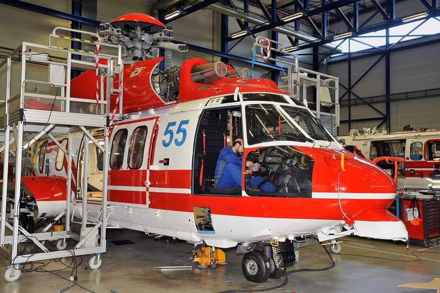 Ремонтні роботи на гелікоптері Н225 з бортовим номером 55 на заводі Airbus Helicopters в Іспанії на початку грудня 2019 року
