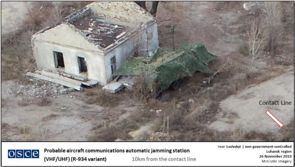 Російська система РЕБ Р-934 зафіксована ОБСЄ