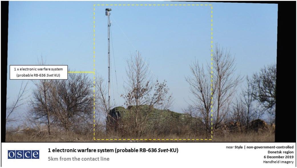 Російська система РЕБ РБ-636 «Свет-КУ» зафіксована ОБСЄ