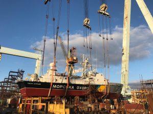Завершено докову частину ремонту корабля «Павло Державін»