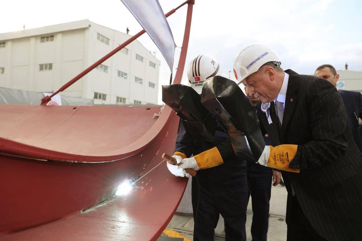 Урочиста церемонія початку зварювання корпусу підводного човна TCG Seydi Ali Reis