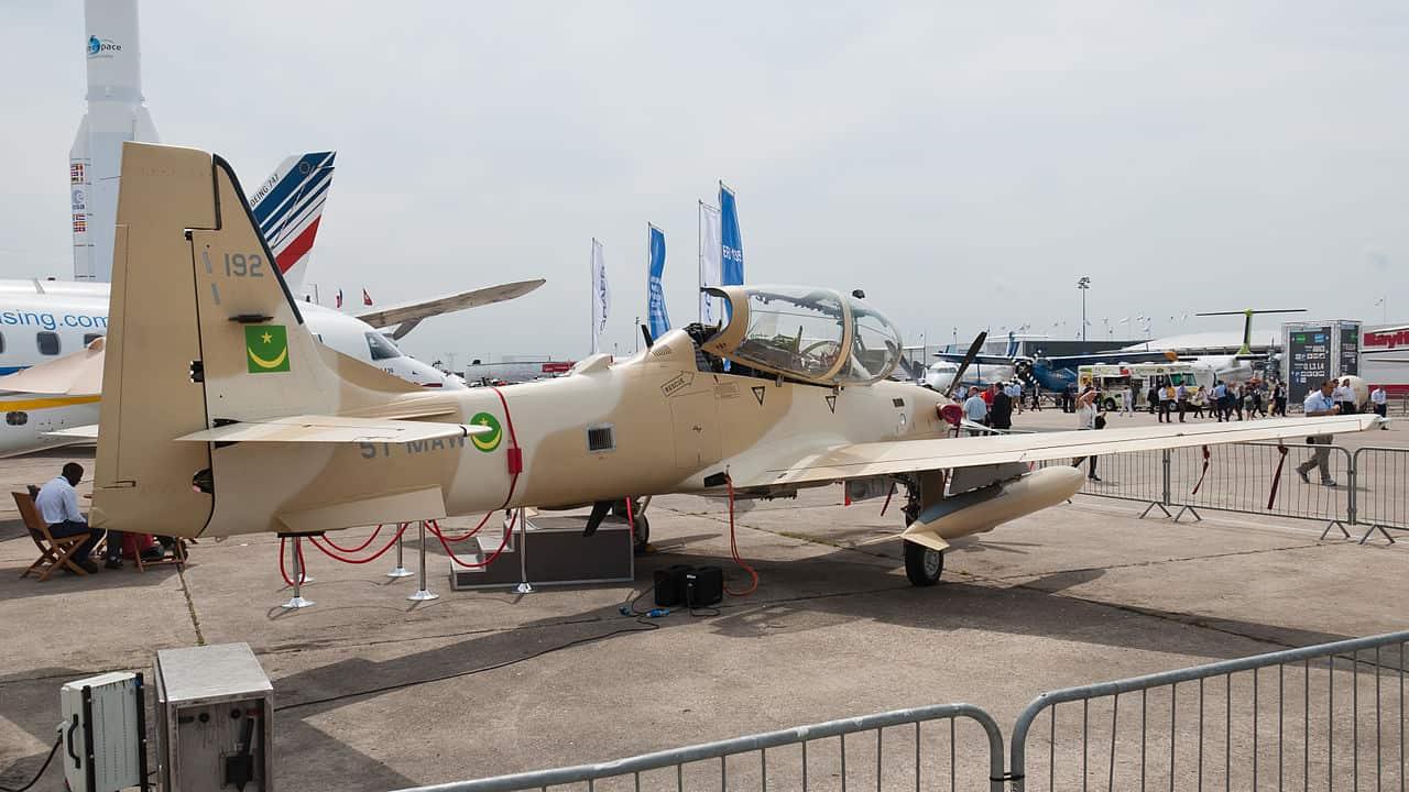 A-29 Super Tucano (EMB 314) Повітряних Сил Мавританії на Паризькому авіашоу