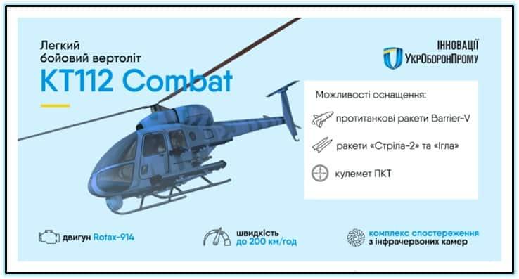 Концепт легкого ударного гелікоптера КТ-112УД