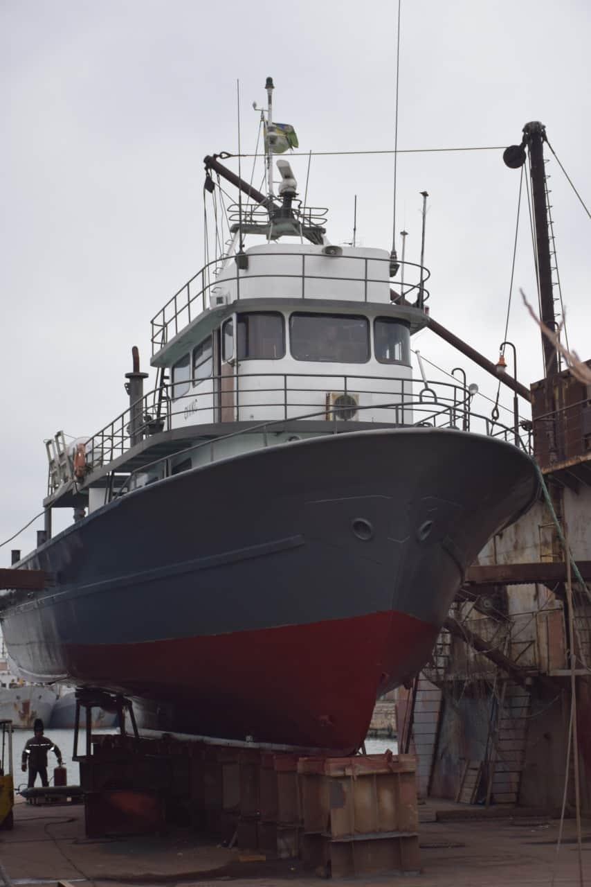 Корабель «Онікс» (BG 59) під час докування