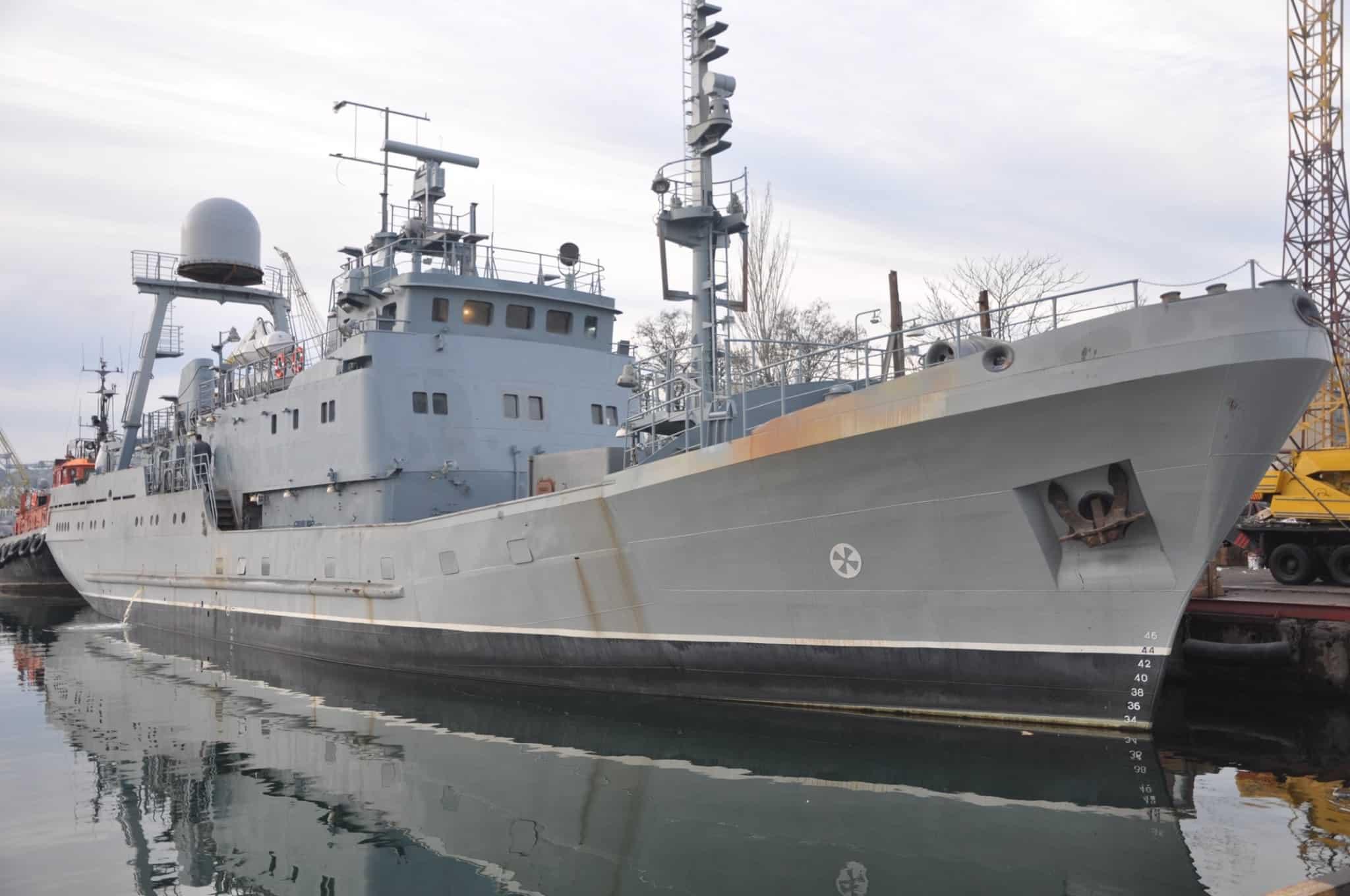 Майбутні середній розвідувальний корабель за темою «Лагуна» перед виходом в море
