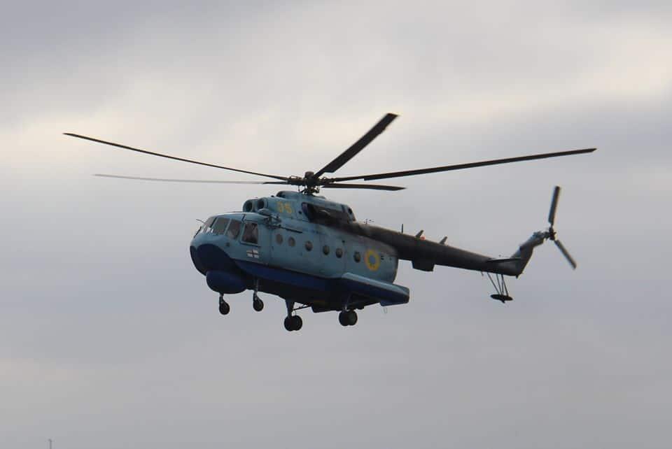 Мі-14 Морської авіаційної бригади ВМС ЗС України з бортовим номером 35