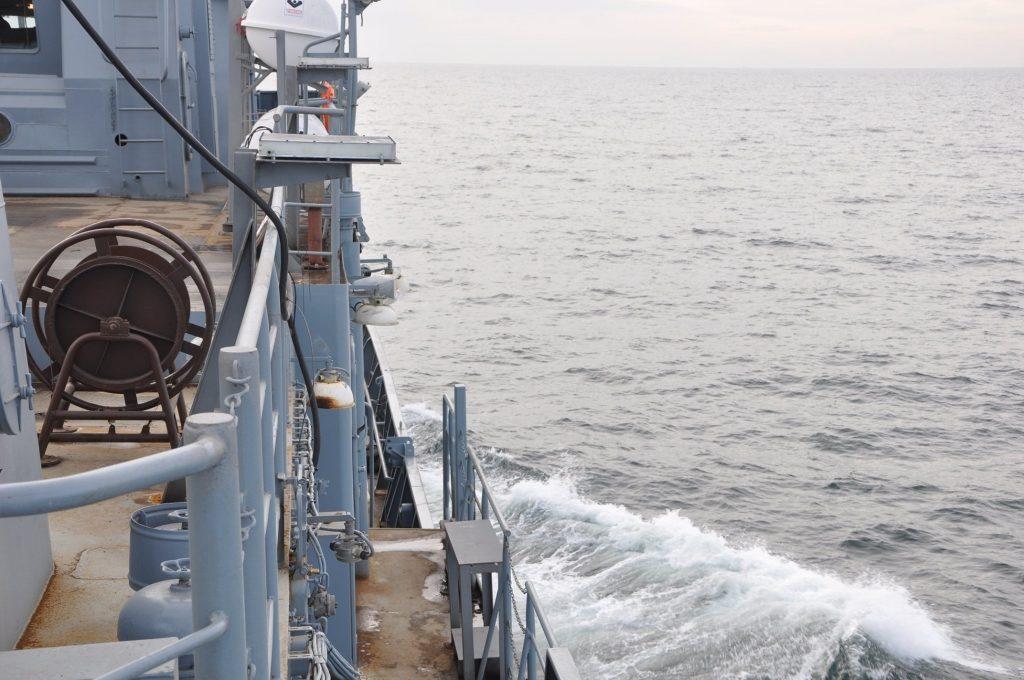 Перший самостійний вихід середнього розвідувального корабля за темою «Лагуна» в море
