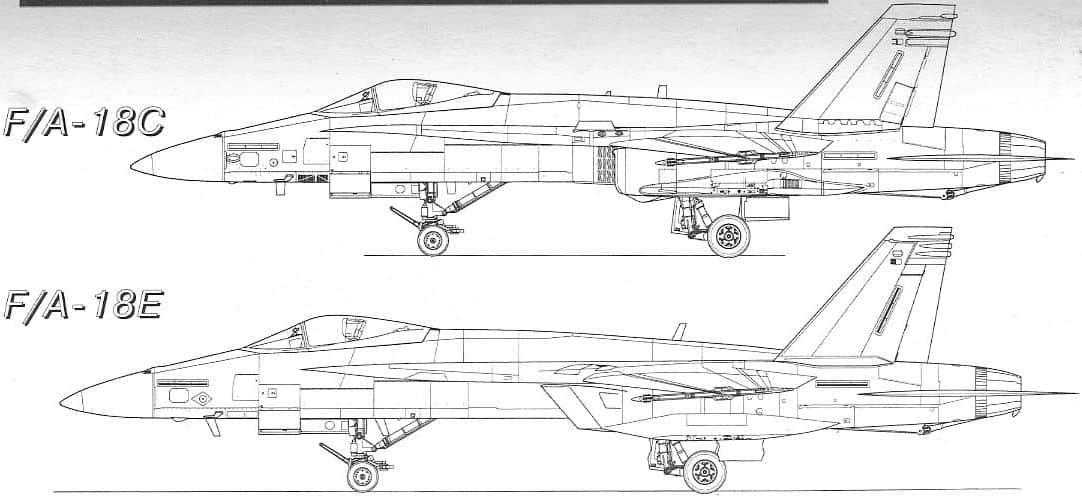 Профіль двох версій FA-18