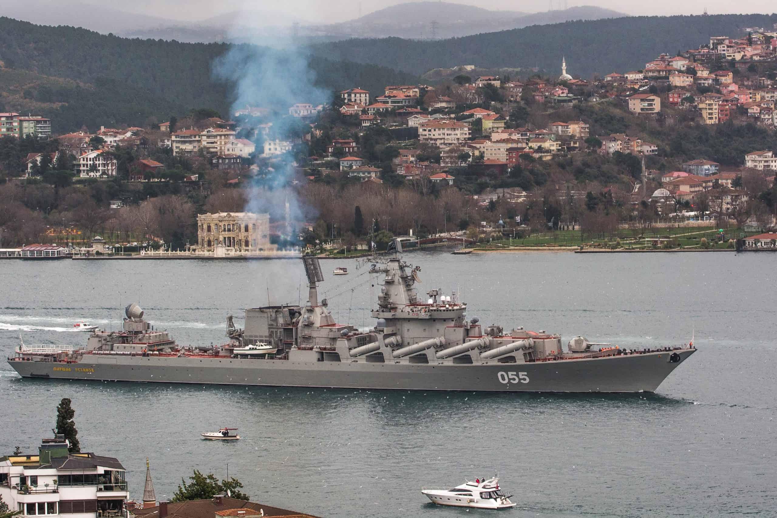 Чорне море залишив російський крейсер