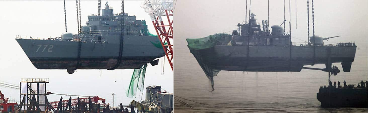 Результат влучання північнокорейської торпеди