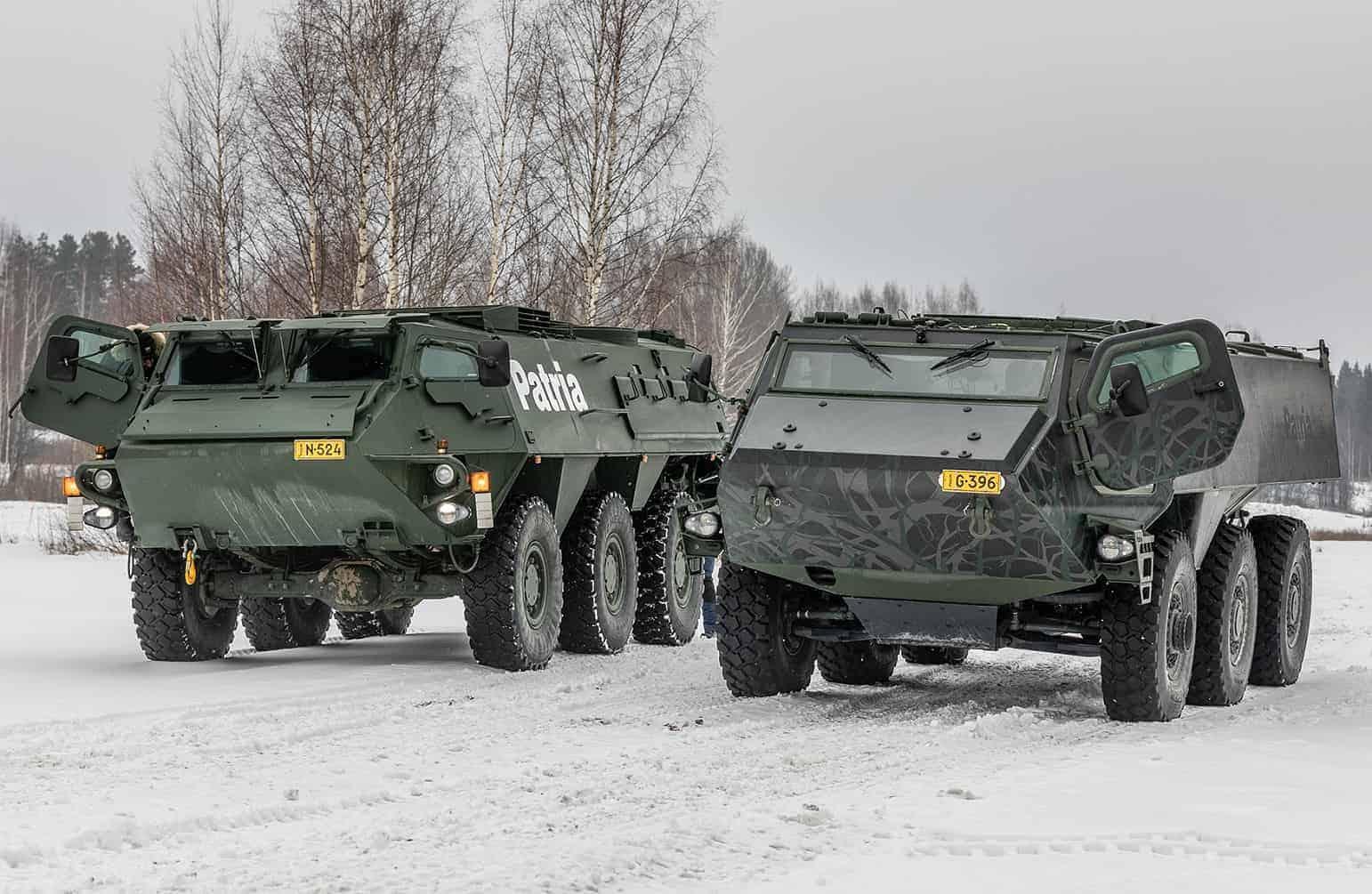 Варіанти платформи Patria 6x6 на випробуваннях