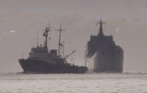 До Чорного моря притягнули російський десантний корабель