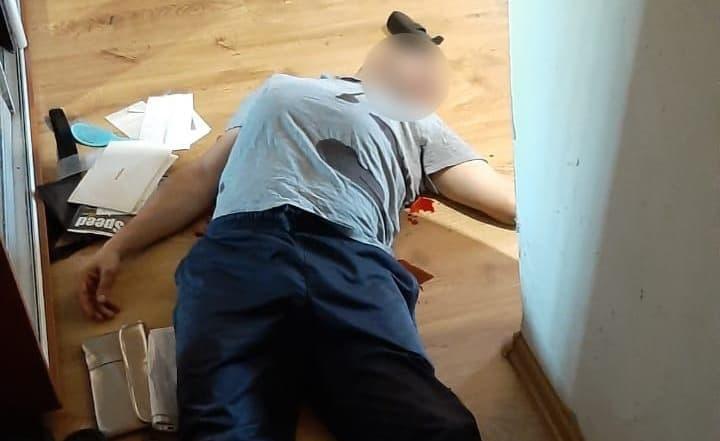 Імітування смерті потерпілого Фото: Державне бюро розслідувань